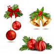 Christmas decoration isolated — Stock Vector