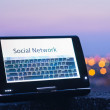 Social network on touch-screen — Stock Photo #11405496