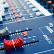 Audio mixer faders — Stock Photo