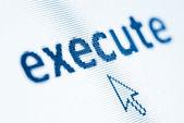 Word execute — Stock Photo