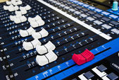Digital audio mixer — Stock Photo