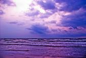 Purple beach — Stock Photo