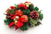 Christmas wreath decoration — Stock Photo