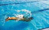 Swimmer dive — Stock Photo