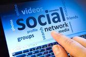 Sociální síť — Stock fotografie