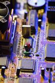 Electronic circuit close-up — Stock Photo