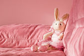 Pink bunny toy — Stock Photo