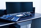 Broadcast editing station — Stock Photo