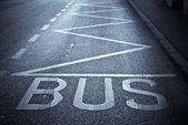 バスの駅 — ストック写真