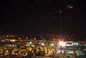 Construction at night — Stock Photo
