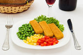 Fish with vegetables — Stock Photo