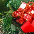 Christmas gift decoration — Stock Photo