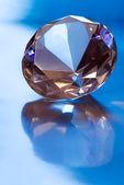 Diamond in blue light — Stock Photo