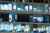 Workplace through windows — Stock Photo