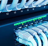 Closeup of network hub — Stock Photo