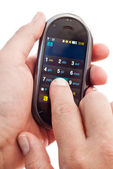 Touch-screen dialing — Stock Photo