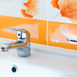 Stock Photo: faucet and sink