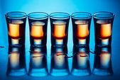 Five hot drinks — Stock Photo