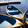Boats on lake — Stock Photo