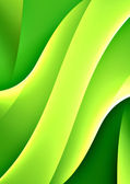 Green curves — Stock Photo