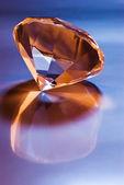Diamond with reflection — Stock Photo