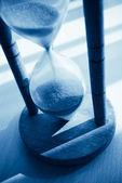 Hourglass blue toned — Stock Photo