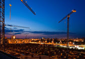 Construction after the sunset — Stock Photo