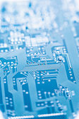 Circuit board blue — Stock Photo