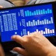 Charts on tablet-pc — Stock Photo #40237187