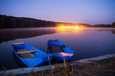 Two boats on lake — Stock Photo