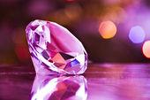 Diamond in purple — Stock Photo