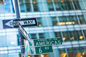 One way street signs — Stock Photo
