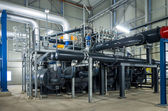 Pumps and piping system — Stockfoto