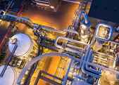 Piping system in industrial plant — Stock Photo