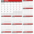 2013 Spanish Calendar Template — Stock Vector