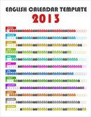 2013 Calendar Template — Stock Vector