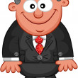 Royalty-Free Stock Vector Image: Business Cartoon - Boss Smile