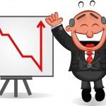 Business Cartoon - Boss Man Happy with Chart — Stock Vector #22888510