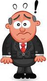 Business Cartoon - Boss Man Shocked — Stock Vector