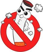 Caricature d'interdiction de fumer — Vecteur
