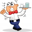 Royalty-Free Stock Imagen vectorial: Angry Waiter Cartoon