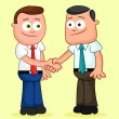 Shaking hands. — Stock Vector