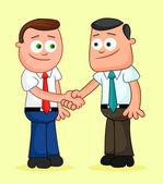 Shaking hands. — Stock Vector