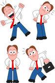 Kreskówka biznesmen zestaw — Wektor stockowy