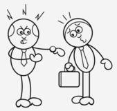 Werkgever en werknemer — Stok Vektör