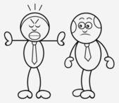 Patrão e empregado — Vetor de Stock
