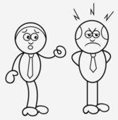 Boss and Employee — Stock Vector