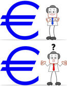 Cartoon Businessman With Euro — 图库矢量图片