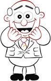 Business Cartoon - Boss Man Laughing — Stock Vector
