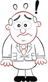 Dibujos animados de negocios - jefe sorprendido — Vector de stock